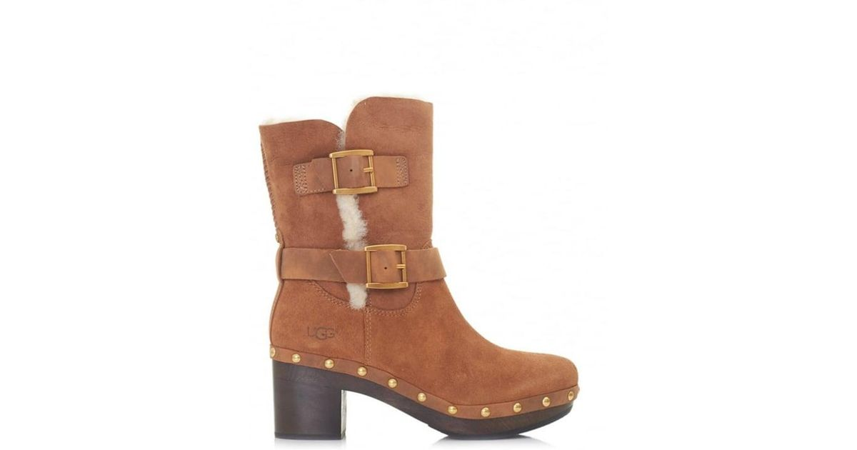 a74ad5e2aa4 Ugg - Brown Brea Clog Inspired Low Heel Boots - Lyst
