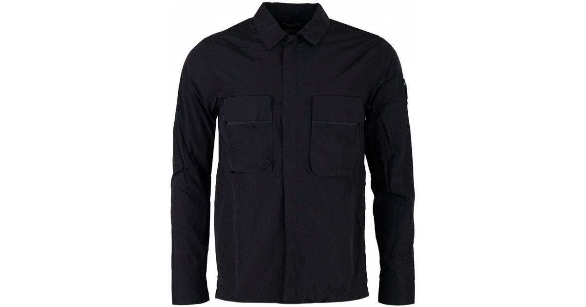 8725aa738e0 Marshall Artist Liquid Bellow Pocket Overshirt in Black for Men - Lyst