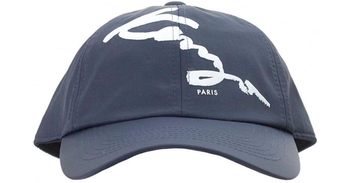 561b2d9195f Lyst - KENZO Signature Cap in Blue for Men