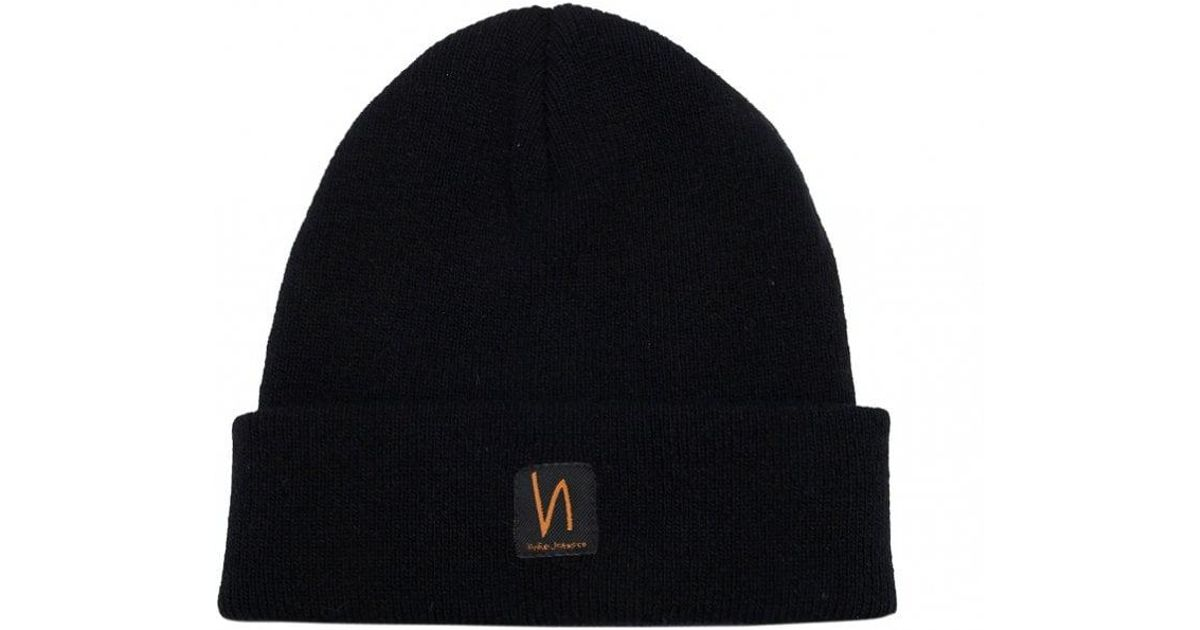 66d6966c4 Nudie Jeans - Black Liamsson Beanie Hat for Men - Lyst