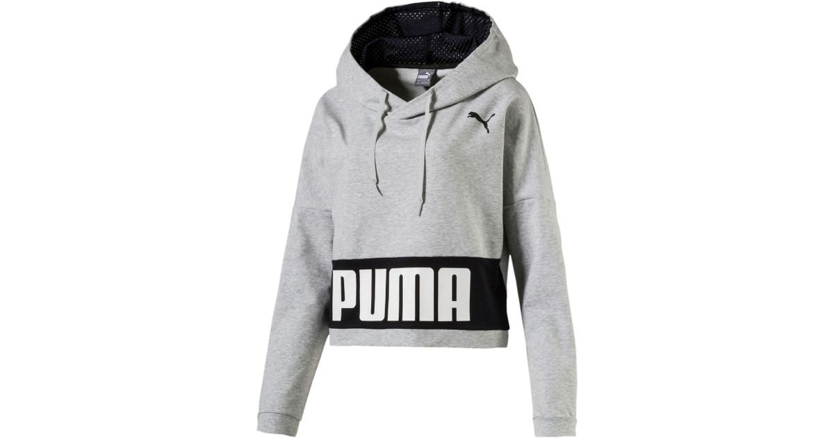 bd0702f675fe Lyst - PUMA Training Urban Sports Women s Hoodie in Gray