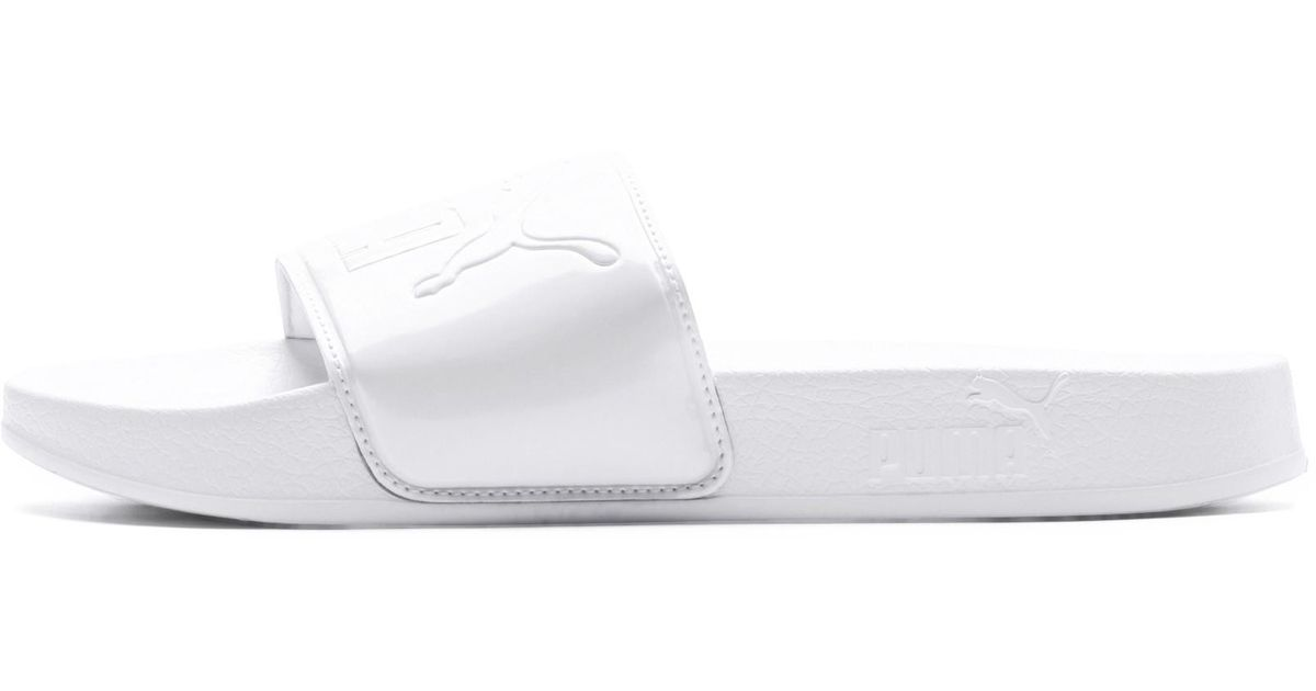 0669218af71 Lyst - PUMA Leadcat Patent Slide Sandals in White
