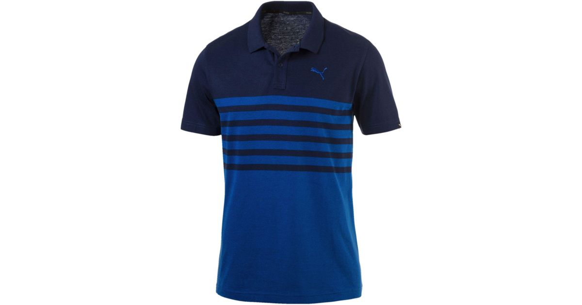 Puma Sports Stripe Polo en jersey S blue depths-lapis blue aW1jTQDcE