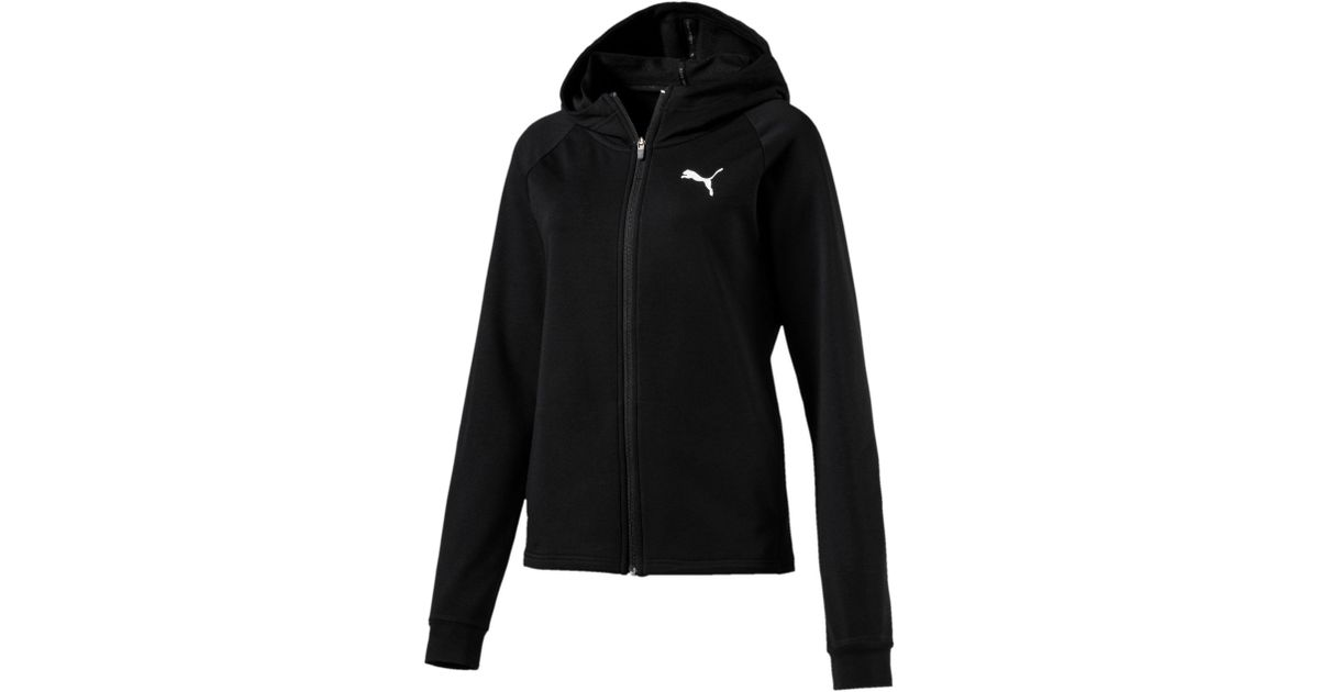 8ad108ef01df Lyst - PUMA Training Urban Sports Women s Full Zip Hoodie in Black