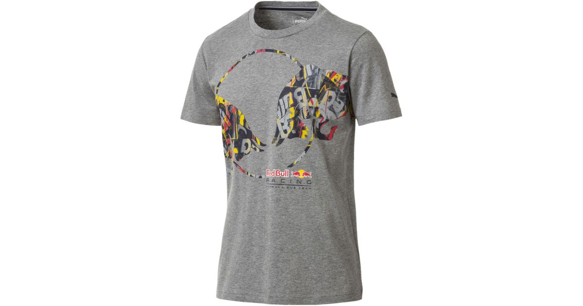 59ed22bb0f5 Lyst - PUMA Red Bull Racing Double Bull Men's Tee in Gray for Men