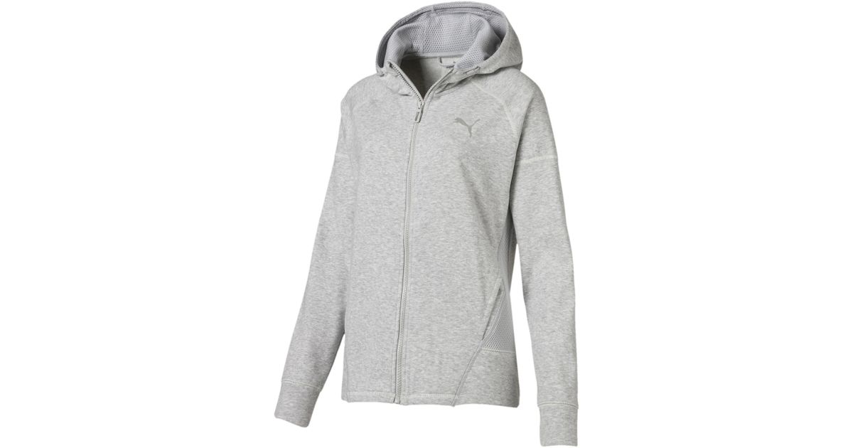 47c370b97155 Lyst - Puma Yogini Full Zip Jacket in Gray
