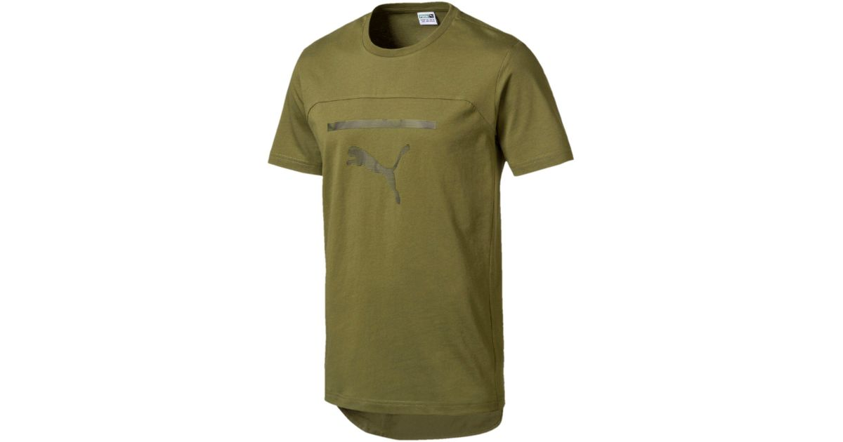 f57af58dd3b3 Lyst - PUMA Pace Men s Graphic Tee in Green for Men