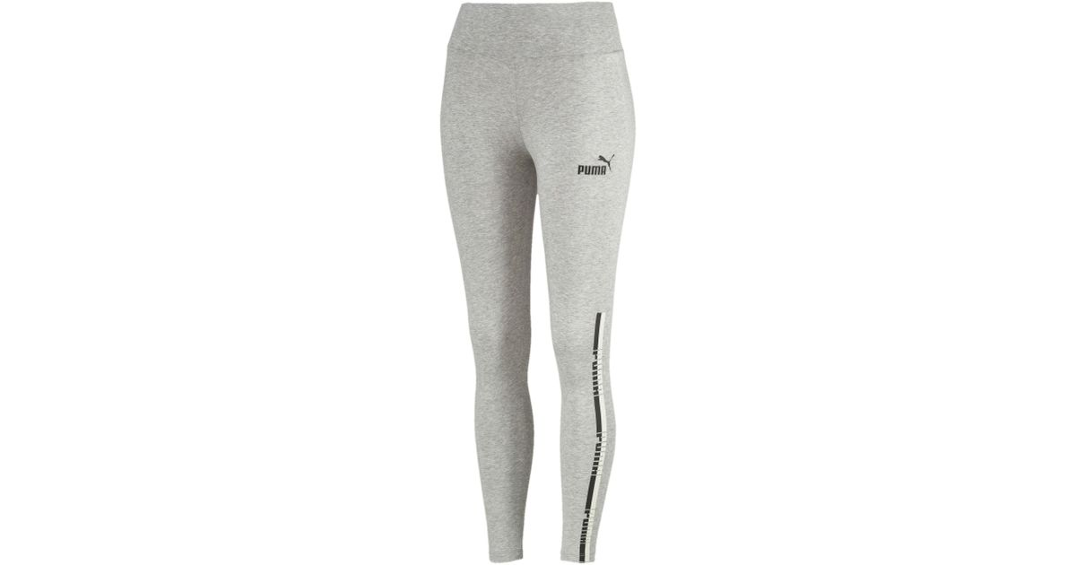 ccdbeefd32c68 Lyst - PUMA Tape Leggings in Gray