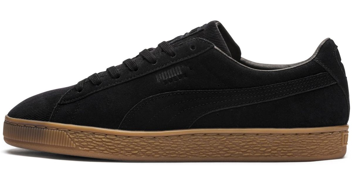 Lyst - PUMA Suede Classic Pincord Sneakers in Black for Men 26083c2cd