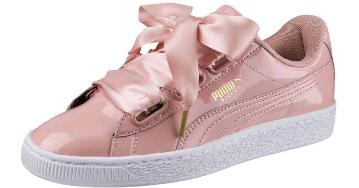 Lyst - PUMA Basket Heart Patent Women s Sneakers 283ed13ea82e9