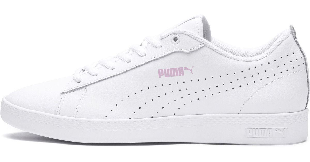 d872ec9f0f31 Lyst - PUMA Smash V2 L Perf Women s Sneakers in White
