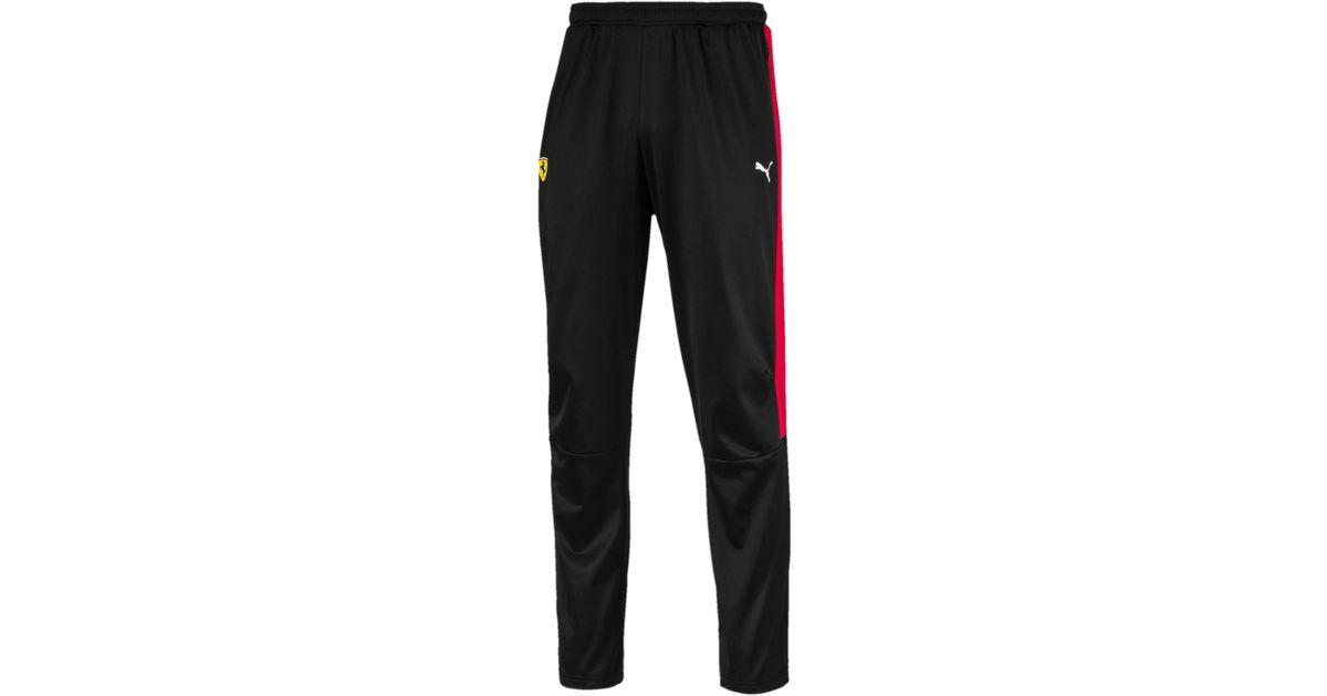 9c0b1fab507c Lyst - PUMA Ferrari Men s T7 Track Pants in Black for Men