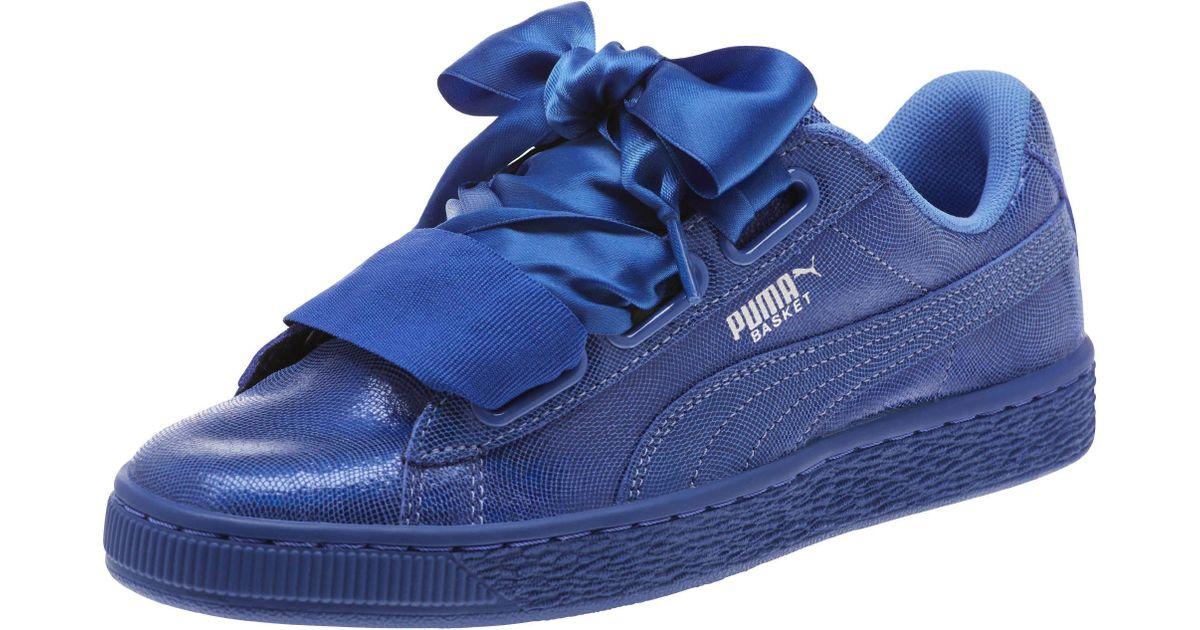 Night Zofgzqwx Puma Heart In Women's Basket Lyst Sky Blue Sneakers vY7b6gfy