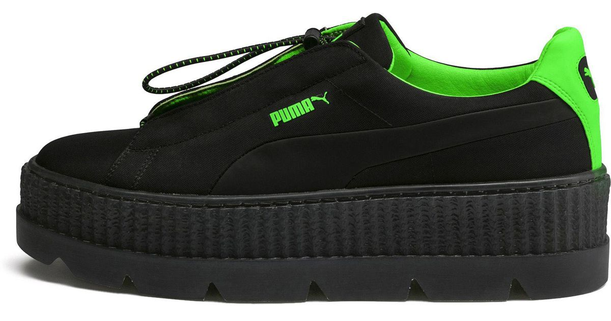 Lyst - PUMA Fenty Women s Cleated Creeper Surf in Green 3997afe65d