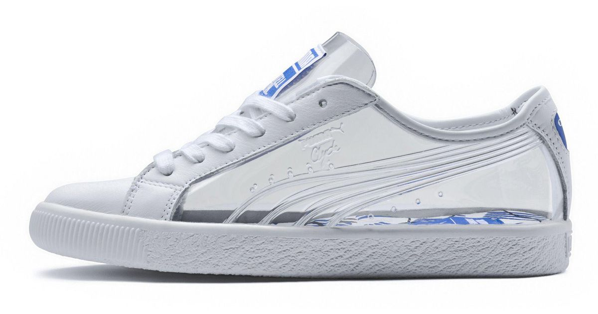 Lyst - PUMA X Shantell Martin Clyde Clear Sneakers in White 7e06f7ca60