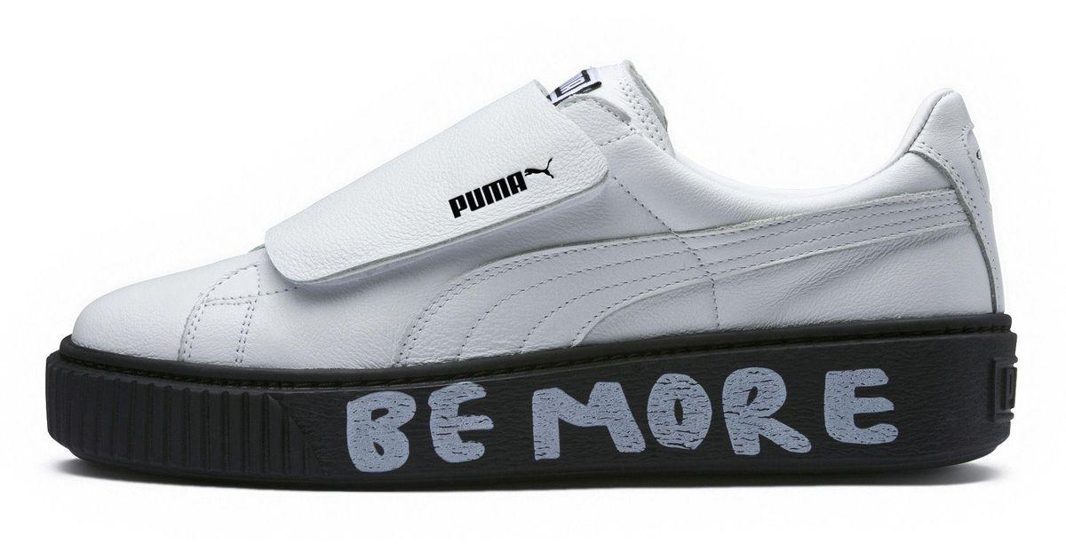 4c63cefdc3fd Lyst - PUMA X Shantell Martin Platform Strap Sneakers in White