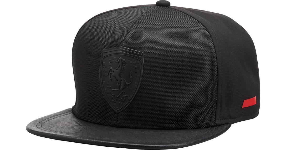 809a64032fc63 ... uk lyst puma ferrari flat brim hat in black for men 5f52a 59f5e