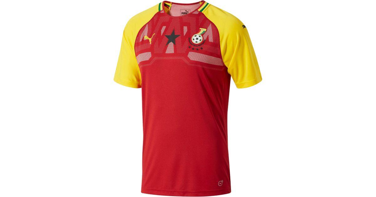 25262cf3a1da4 PUMA - Red S Gfa Ghana Home Shirt Replica Ss for Men - Lyst