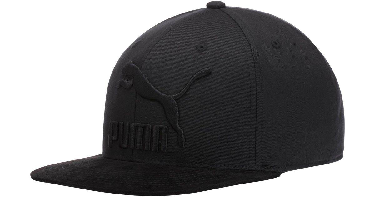 c1c3e159479 ... sale lyst puma suede 110 snapback hat in black for men 30307 98b7c