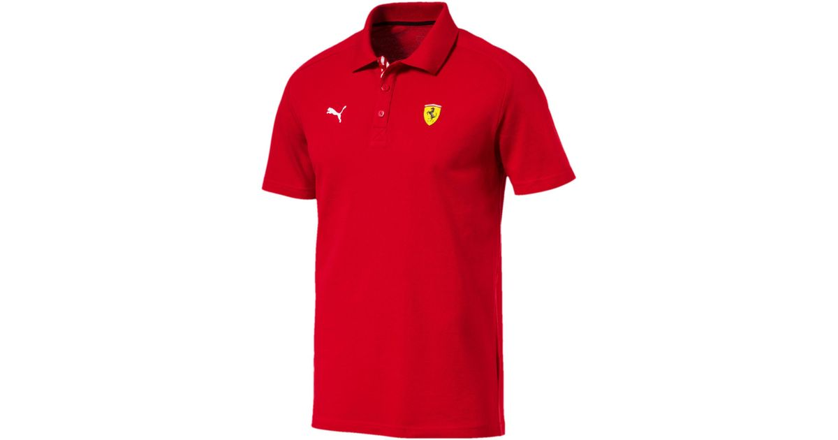 9f7b95a7 Lyst - PUMA Ferrari Men's Polo Shirt in Red for Men