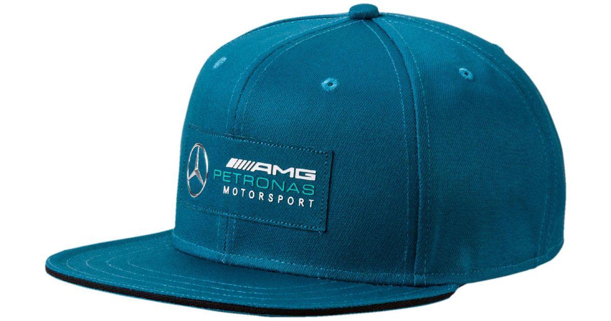 211dc39795a ... new arrivals lyst puma mercedes amg petronas motorsport flatbrim hat in  blue for men 07f20 64c23