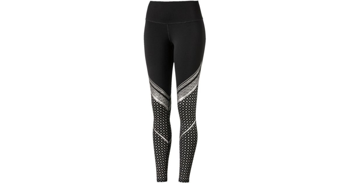 75c04d3d89fde PUMA Active Training Everyday Train Graphic Tights – Womens in Black - Lyst