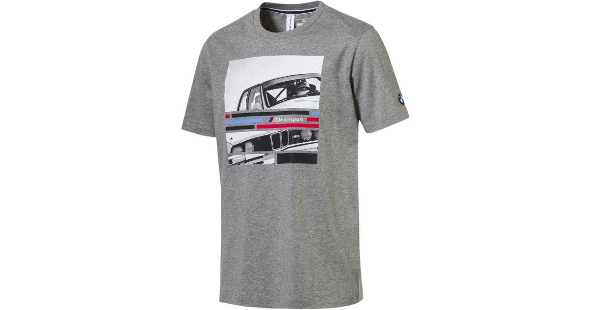 72c244fa589 Lyst - PUMA Bmw Motrsport Graphic T-shirt in Gray for Men