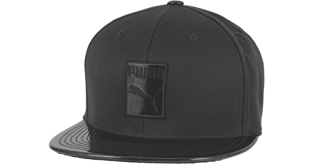 a11bd10438a5 ... czech lyst puma patent 110 snapback hat in black for men 07184 dab93