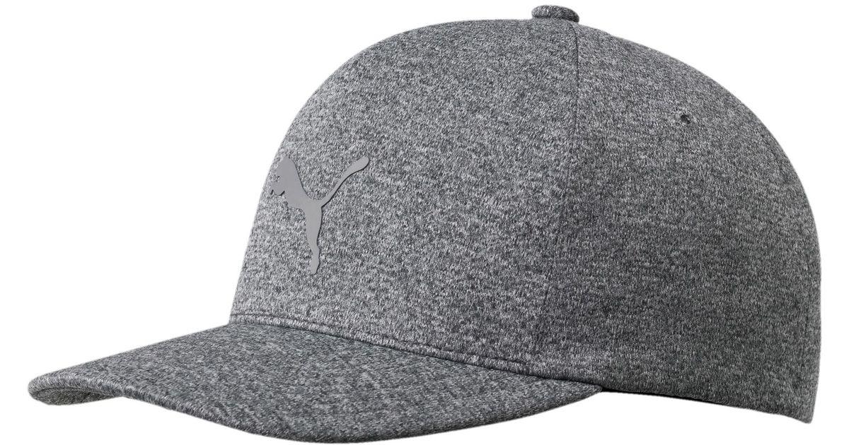 Lyst - PUMA Golf Men s Evoknit Delta Flexfit Cap in Gray for Men 41452423a6e