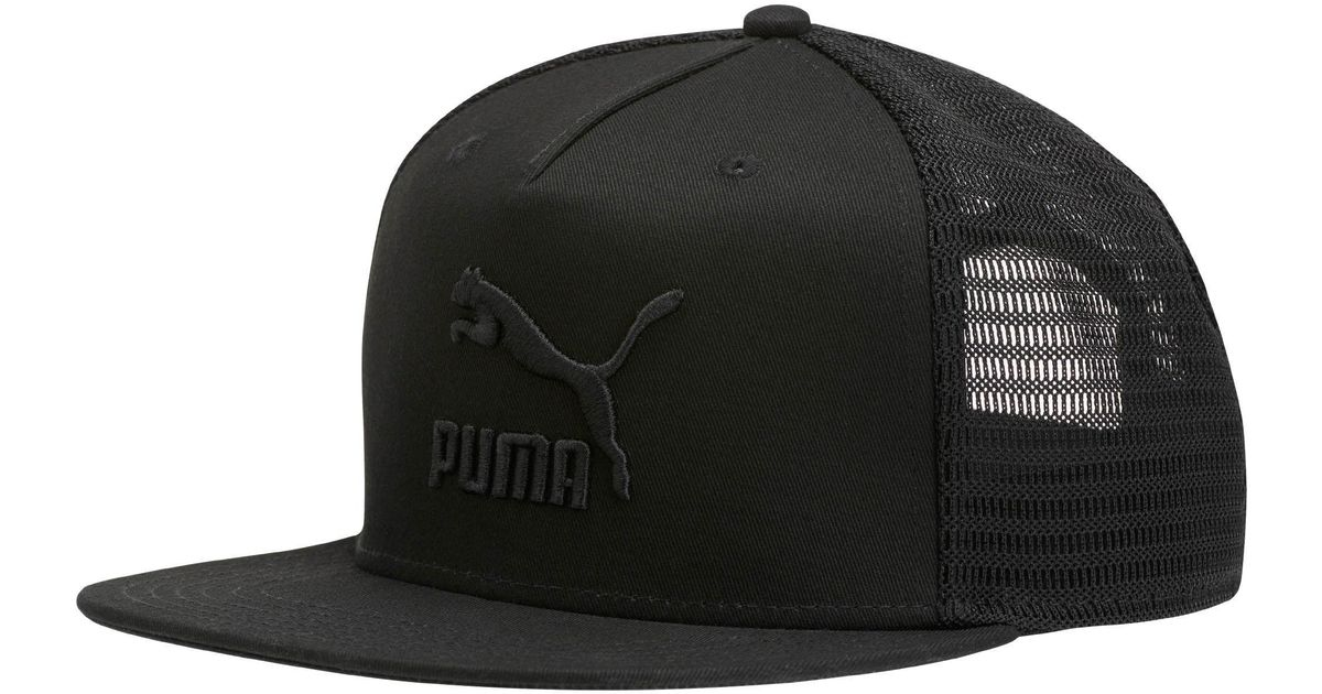 03d4aefbadecb ... new zealand lyst puma archive trucker hat in black for men ef420 2f6b1  ...
