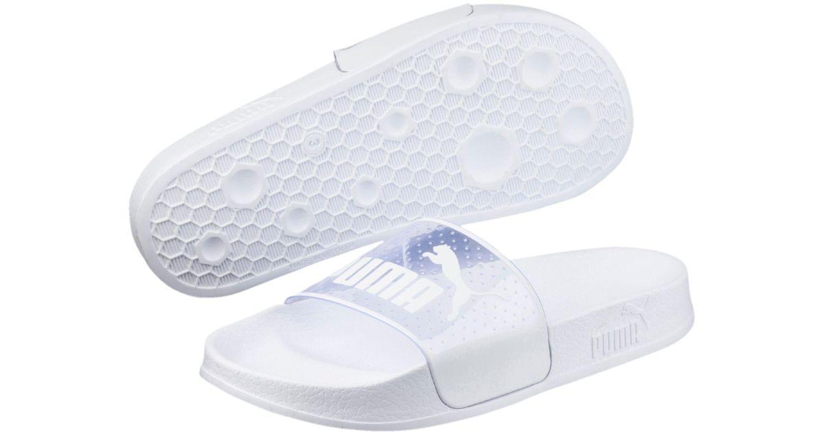 5325b31a218d Lyst - PUMA Leadcat Jelly Women s Slide Sandals in White