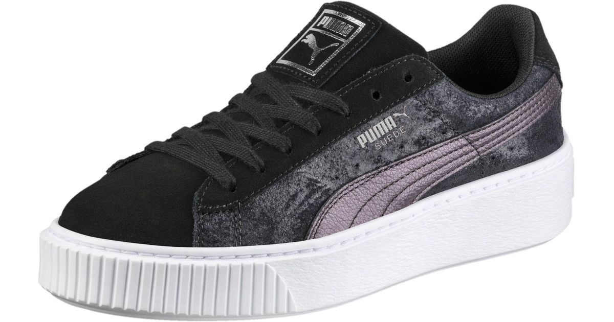 55d5b0e4c7c5 Lyst - PUMA Suede Platform Metallic Safari Women s Sneakers in Black