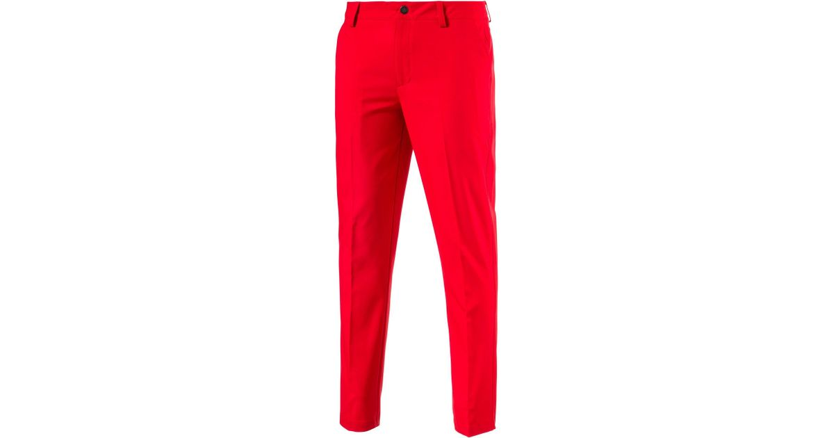 d07fecc4d201 Lyst - PUMA Tailored Tech Golf Pants in Red for Men