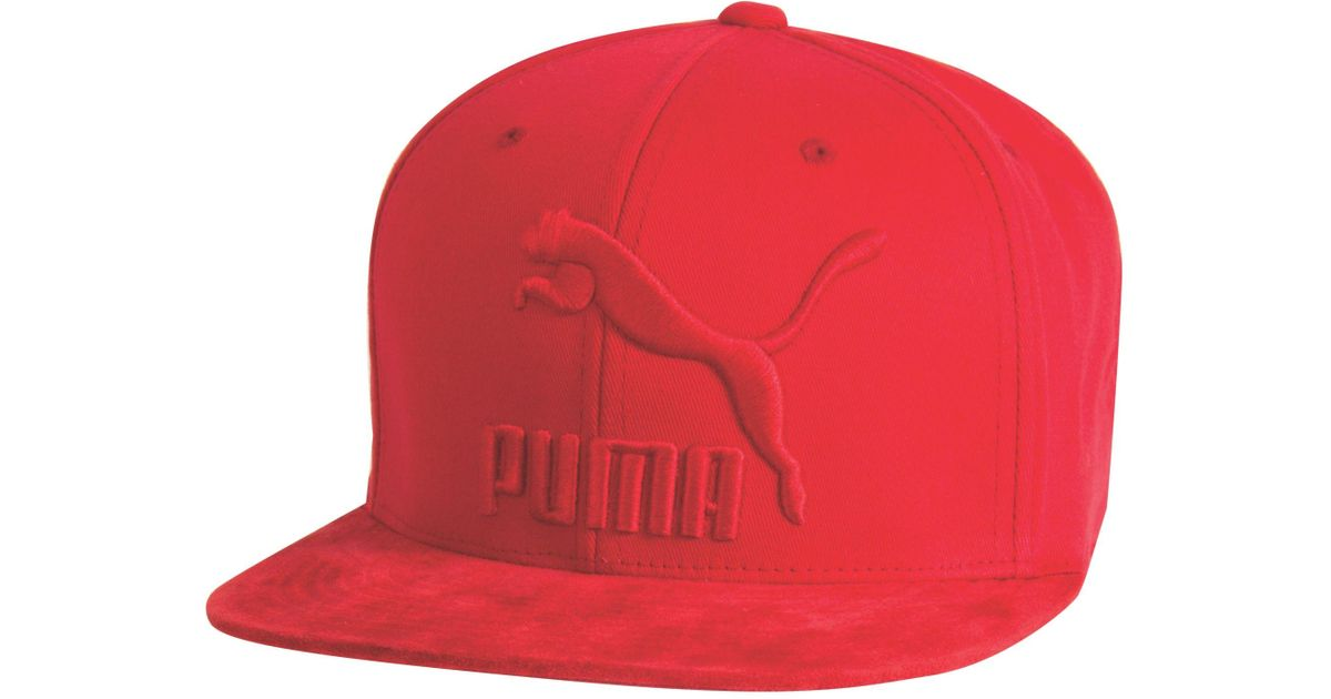Lyst - PUMA Suede 110 Snapback Hat in Red for Men 946cb8aa7