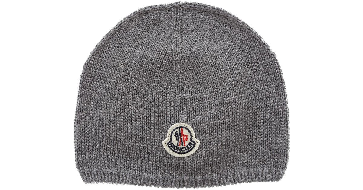 Lyst - Moncler Baby Hats For Boys On Sale in Gray for Men f97c7d94456