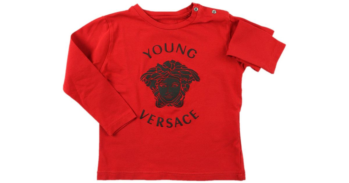 86fbec9d79c1 Lyst - Versace Baby T-shirt For Boys On Sale in Red for Men
