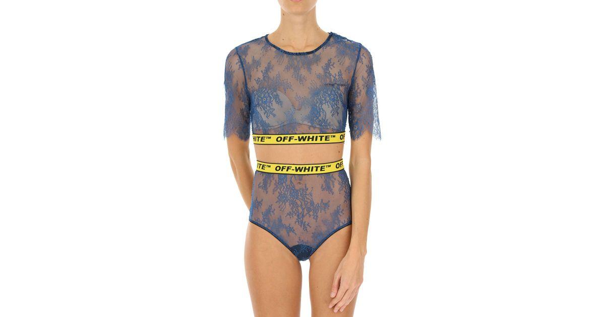 23ce18f92f477 Lyst - Sous-vêtement Femme Off-White C O Virgil Abloh en coloris Bleu