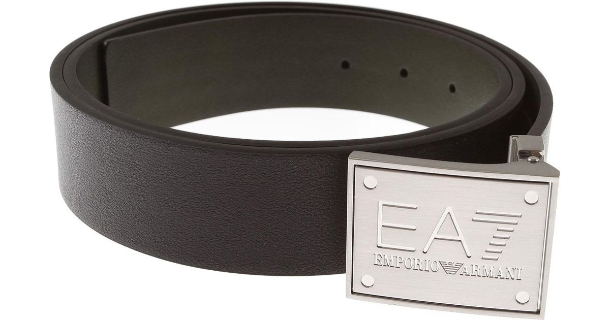 f492053409 Emporio Armani - Black Mens Belts On Sale for Men - Lyst