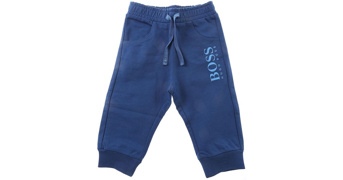 8c7e2e6cc93 Lyst - Sudaderas para Bebé Niño Baratos en Rebajas BOSS de hombre de color  Azul