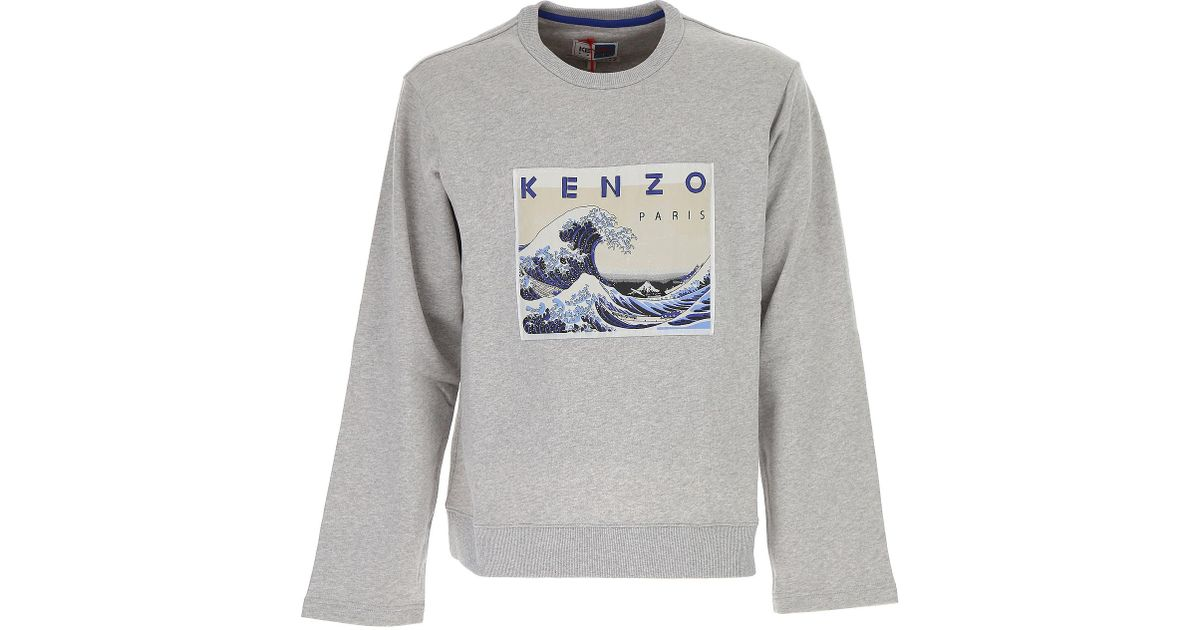1f50a108ae Lyst - KENZO Sweater For Men Jumper On Sale in Gray for Men