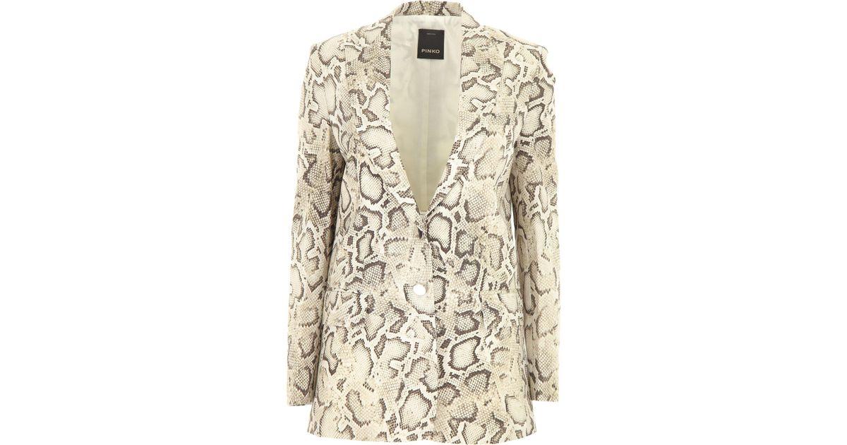 9ce6489765 Lyst - Pinko Blazer For Women in Natural
