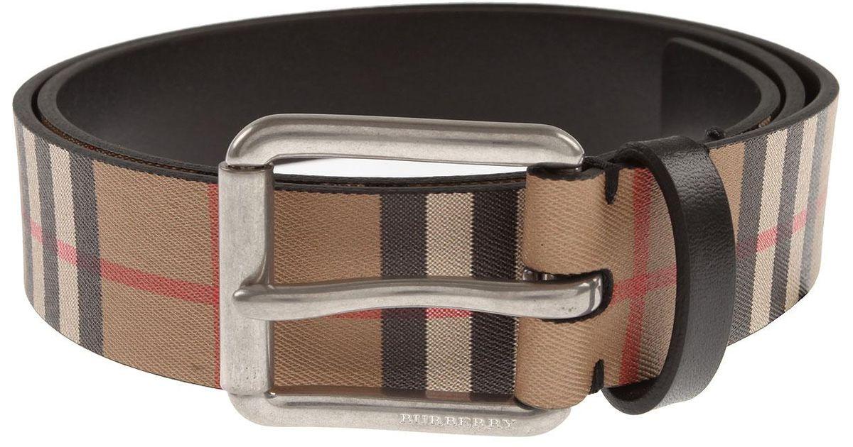 b35a820cd Cinturones para Hombres Burberry de hombre de color Neutro - Lyst