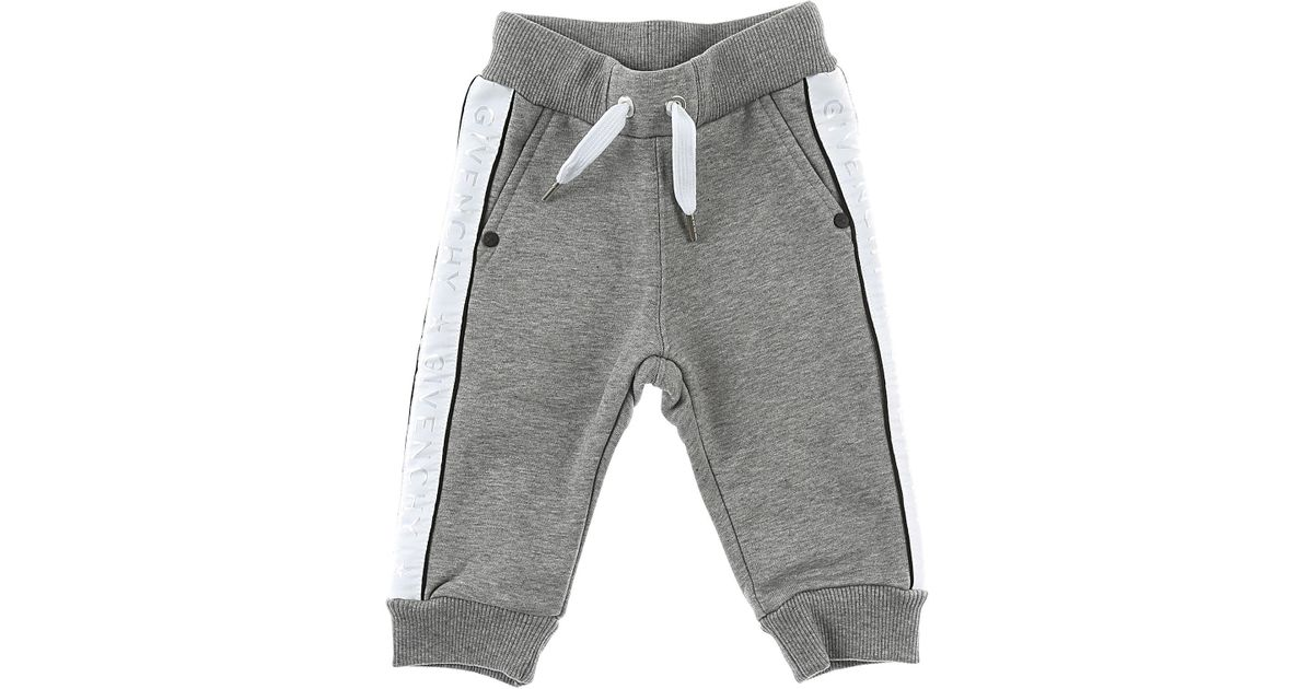 3f8333fab Lyst - Givenchy Baby Sweatpants For Boys On Sale in Gray for Men