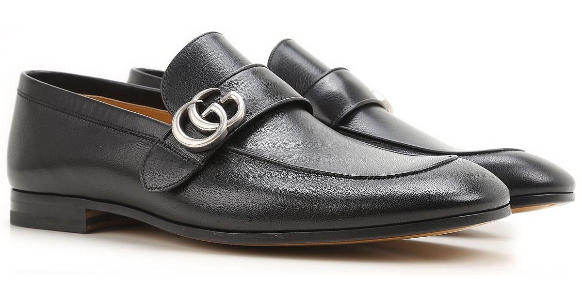 14908870222 Lyst - Mocassin Homme Pas cher en Soldes Gucci pour homme en coloris Noir