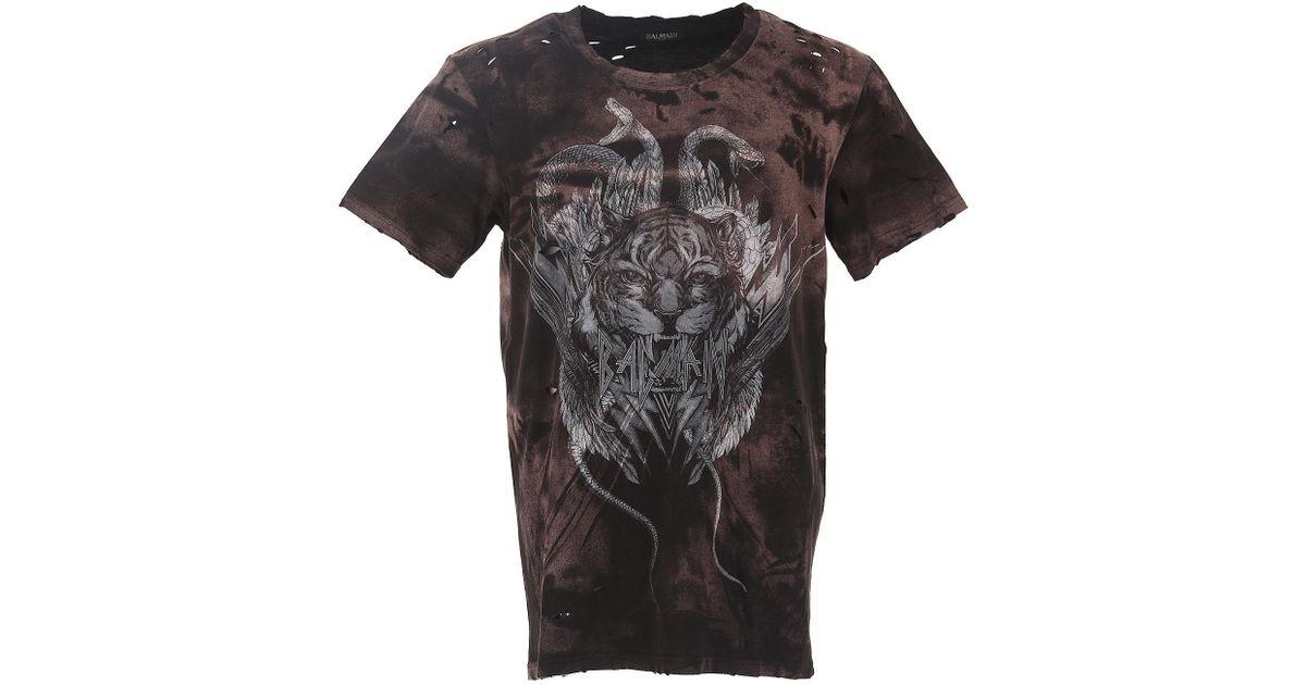 Multicolor Cher Balmain Pour Shirt Homme Pas T En Soldes Coloris 34RA5jLq