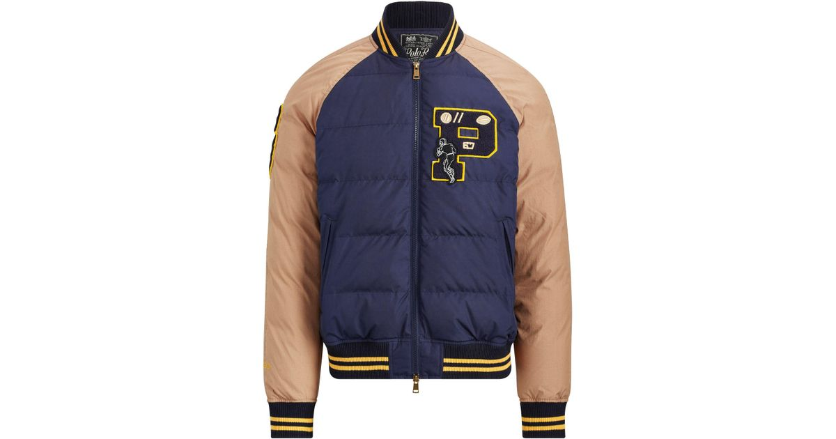 1ed71de6c6 Pink Pony - Blue Down Letterman Jacket for Men - Lyst