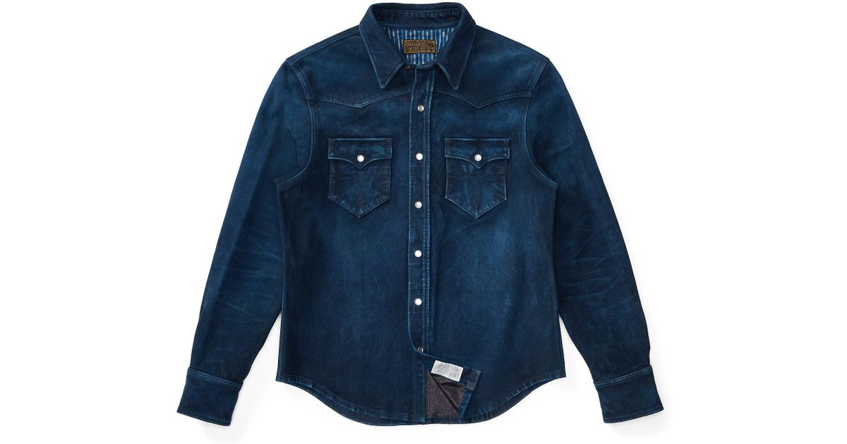 0543f11bc3 Lyst - RRL Limited-edition Suede Jacket in Blue for Men