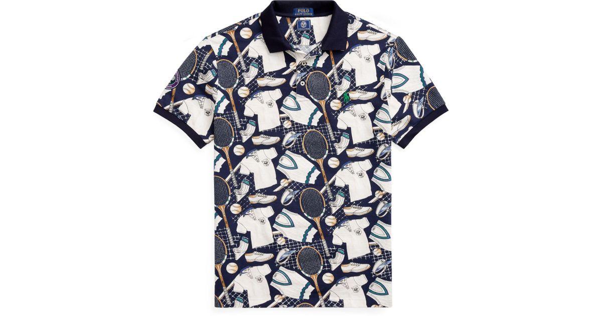 9f984bba2e Polo Ralph Lauren - Blue Wimbledon Custom Slim Fit Polo for Men - Lyst