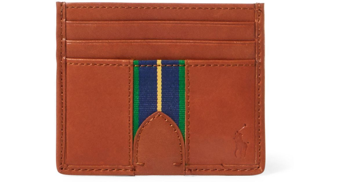 Lyst - Polo Ralph Lauren Grosgrain-stripe Card Case in Brown for Men 4025ddccfa1
