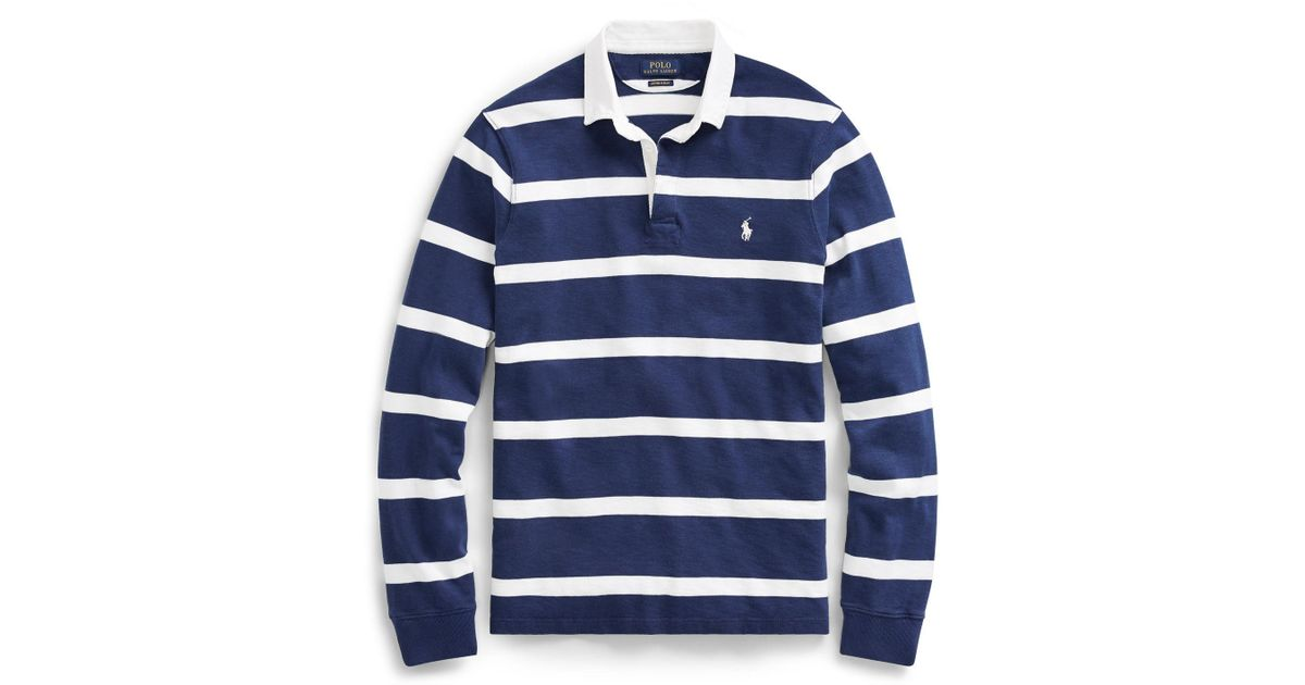 e2d97b3ac171 Polo Ralph Lauren The Iconic Rugby Shirt in Blue for Men - Lyst